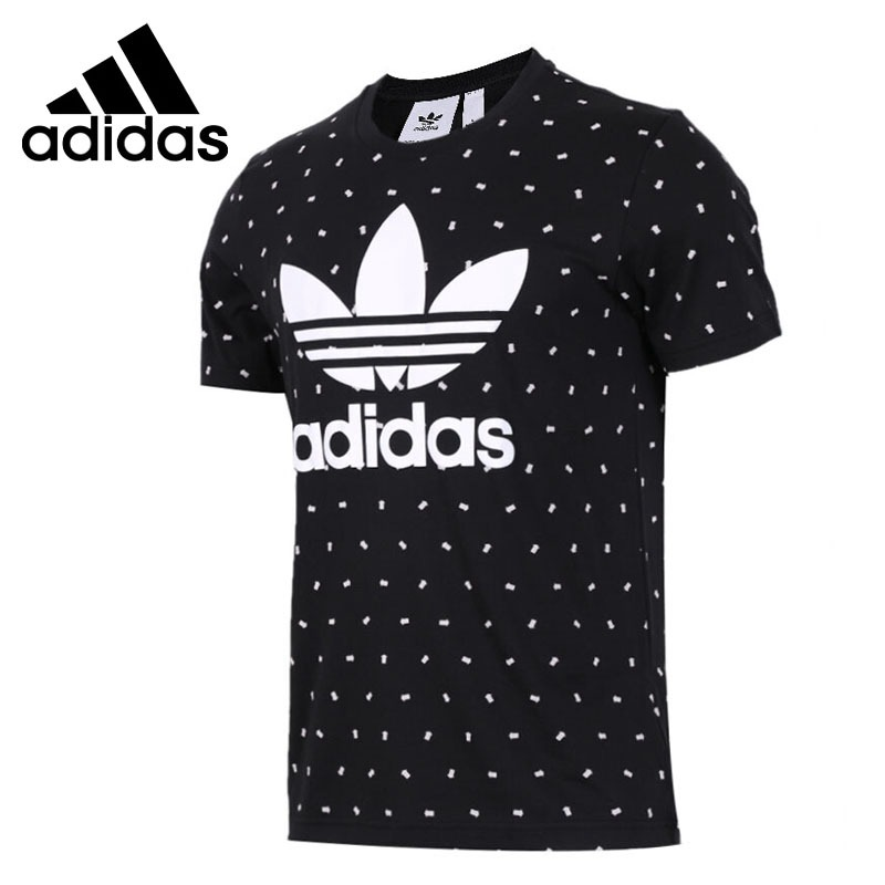 Original New Arrival 2018 Adidas Originals TREFOIL TEE Men's T-shirts short sleeve Sportswear patchwork short sleeve henley tee