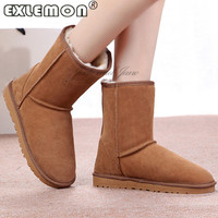 2016 Australia Long Winter Female Sale Fur Women S Bota Ankle Snow Boots High Flat Shoe