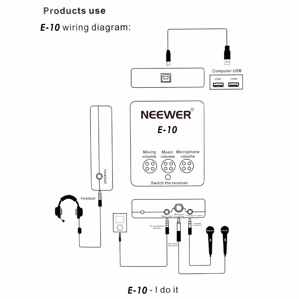 hight resolution of neewer external usb sound card with free drive design for singing recording music listening