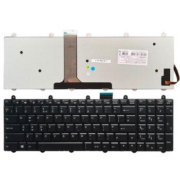 UK Laptop Keyboard with backlight For Clevo P157SM P177SM P375 P751ZM  Black V132150BK1