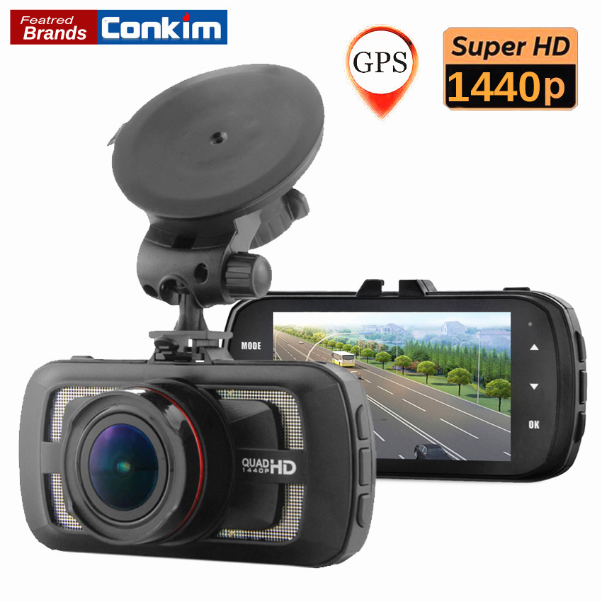 conkim dvr car dash camera ambarella a12 chip 1440p 1080p full hd gps car motion detector. Black Bedroom Furniture Sets. Home Design Ideas