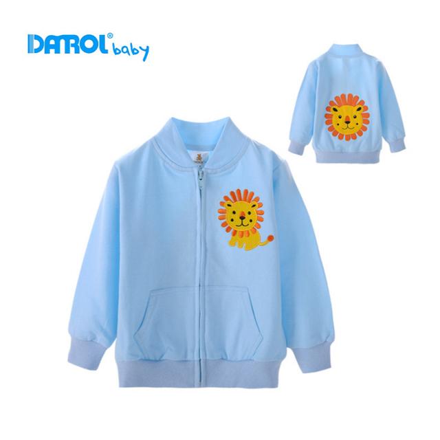 Camisolas das crianças 1-3 t 100% algodão com bordado bonito do bebê crianças usam primavera outono das crianças sportsuits clothing