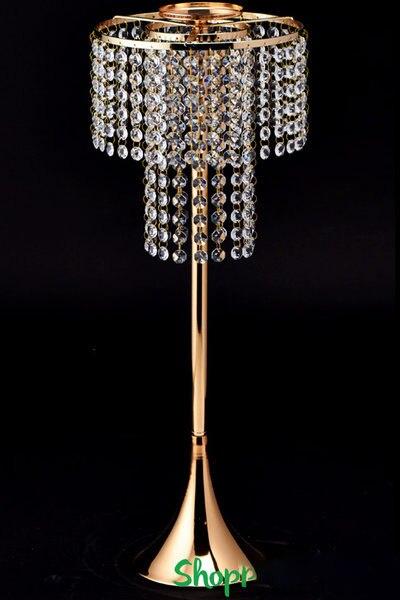 Cristal perlé lustre pièce maîtresse Riser & Top bougie ou plaque florale décoration de mariage faveurs de mariage
