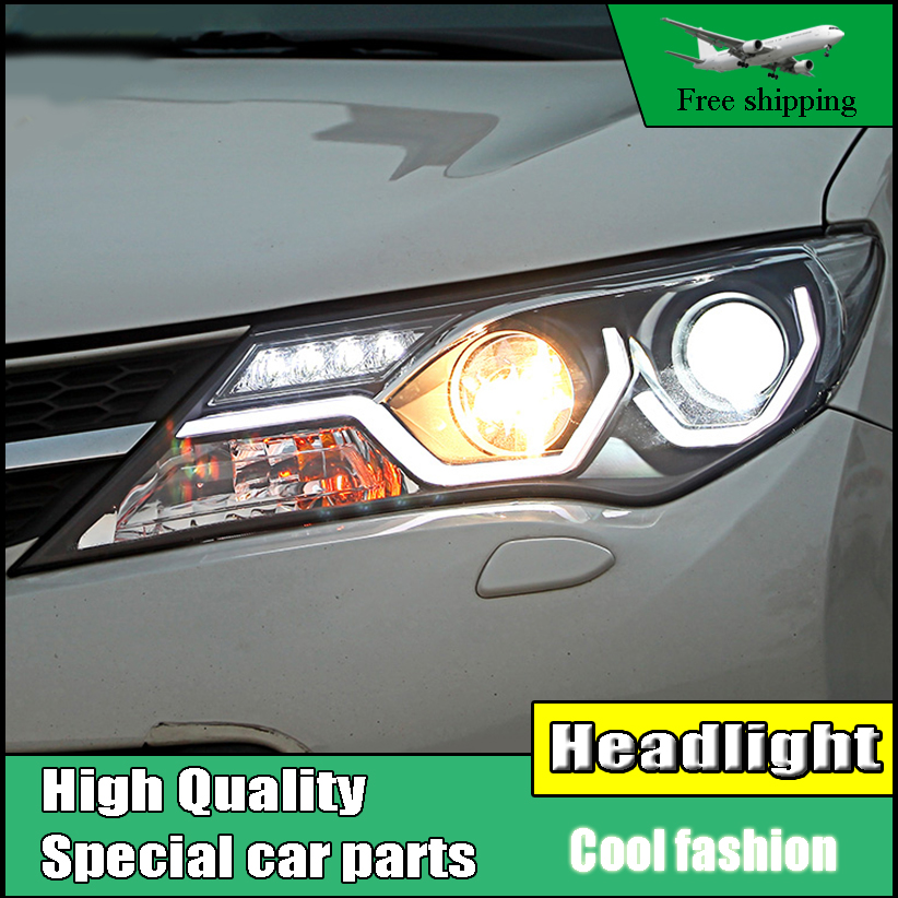 Car Styling Head Lamp Case For Toyota RAV4 headlights 2014 2015 LED Headlight DRL Bi Xenon Lens High Low Beam Parking Fog Lamp akd car styling for nissan teana led headlights 2008 2012 altima led headlight led drl bi xenon lens high low beam parking
