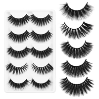Mixed 5 Style 3D Mink Hair False Eyelashes Thick Long Fluffy Eye Lash Full Strips Natural Fake Lashes Extension Makeup Tools False Eyelashes