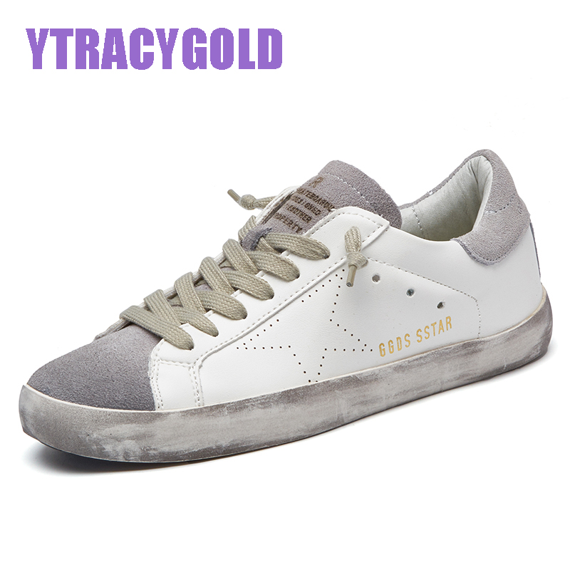 Designer Golden PU Leather Casual Women Trainers Sport Star Dirty Do Old Shoes Footwear Zapatillas Basket Femme Sneakers Women 2017brand sport mesh men running shoes athletic sneakers air breath increased within zapatillas deportivas trainers couple shoes