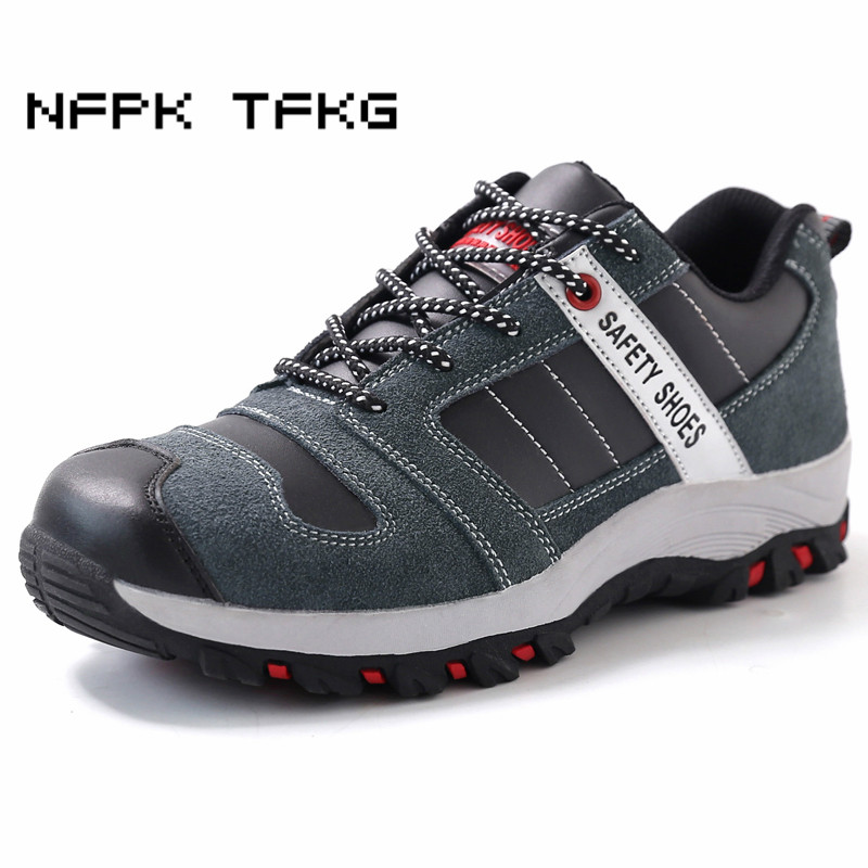 new fashion men large size breathable steel toe caps working safety shoes non-slip platform genuine leather tooling boots zapato big size men casual breathable steel toe cap working safety shoes soft leather non slip tooling security boots protective zapato