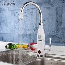 Сюэцинь 220 В проточный Электрический водонагреватель светодиодный цифровой кухонный умывальник кран для ванной для душа
