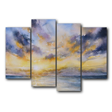 Laeacco Sunset Clouds Sky Amazing Canvas Oil Poster And Prints Living Room House Wall Decor Art Painting Home Decoration Picture