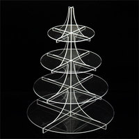 4 tier Acrylic Cake Stand Round Cup Cupcake Holder Wedding Birthday Party Decorations Events Dessert Sugarcrafts Display Stands