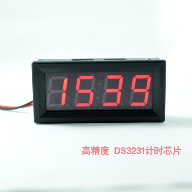 8850c4e4d67 LED Relógio Medidor de  CarThermometerVoltmeterAutoIndoorOutdoorTermometroTemperatureVoltage com  cor vermelha