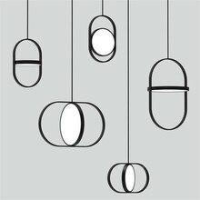 Nordic duplo redondo lustres personalidade moda sala de estar entrada restaurante café quarto lâmpada cabeceira frete grátis