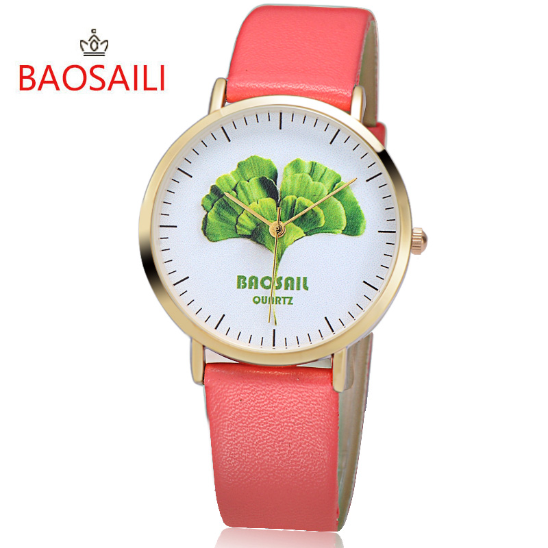free shipping wholesale superman watch quartz cartoon children 3d watch 1pcs Free shipping BAOSAILI Top Brand Green Leaf Series Watch Simple Cartoon Watches Ladies Wholesale Fashion Quartz Watch BS1010