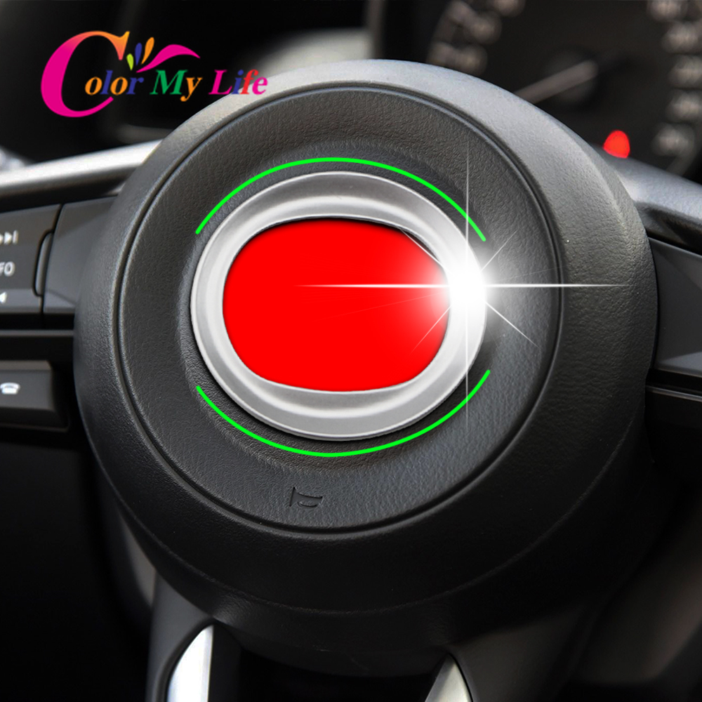 Car Styling Steering Wheel Logo Frame Cover Trim for Mazda 3 6 M3 M6 AXELA Atenza CX-3 CX-4 CX-5 2014 2015 2016 2017 2018 Parts
