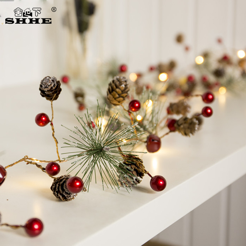 Berry Christmas Tree Lights: Red Berry Christmas Garland Lights LED Copper Fairy Lights