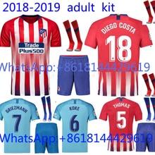 2017 edición tailandesa AAA mejor calidad jersey camiseta adulto 18 19  Atleticoes Madrides Rojo Negro camisa de pie envío Gratis 4959d45eafe
