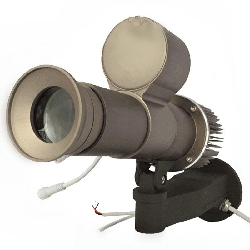 Logo Projecteur HD 30 W 40 W LED Rotatif Image 14000 Lumens publicitaire Dynamique lampes Imperméable IP65 avec 1 pièces 2 Couleurs Gobo lentille