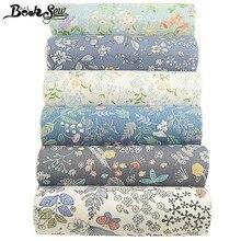 6 piezas de tela de algodón 100% con estampado de flores de Booksew, 40cm x 50cm, acolchado de cuarto grueso, textil para el hogar, DIY, Patchwork, tejido de costura