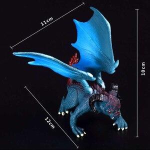 Image 5 - 1 個 12 センチメートルシミュレーションマジックドラゴン恐竜始祖鳥 pvc 固体アクションフィギュア玩具人形モデル装飾子供大人のギフト