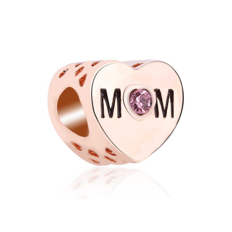 ใหม่มาถึงขนาดเล็ก Tumbler ดาวหัวใจดอกไม้คริสตัล Charms ลูกปัด Fit Pandora สร้อยข้อมือผู้หญิง Night Club DIY ของขวัญ