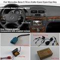 Back Up Câmera Reversa Para Mercedes Benz E W211 E280 E300 E320 Conjuntos E55 E63-Car Câmara de Visão Traseira RCA & Tela Original