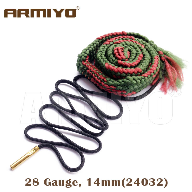 Armiyo Bore Snake 28GA 28 Gauge 14mm Shot Gun Bore Cleaner Bore Cleaning Sling 24032 Shooting Clean Kit Accessories