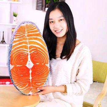 빨 수있는 재미있는 시뮬레이션 맛있는 연어 물고기 초밥 베개 쿠션 홈 장식