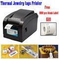 Solución de impresión de etiqueta de La Joyería 80mm térmica impresora térmica sin necesidad de cinta con etiqueta resistente a los arañazos proporcionar plantilla HS-80B01