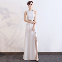 Backlackgirl New Arrival Elegant Evening Dresses Woman 2018 New Pattern Banquet Grace Long Fund Thin Evening