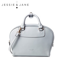 JESSIE&JANE Designer Brand 2016 New Women's Top-handed Split Leather Handbag 1388