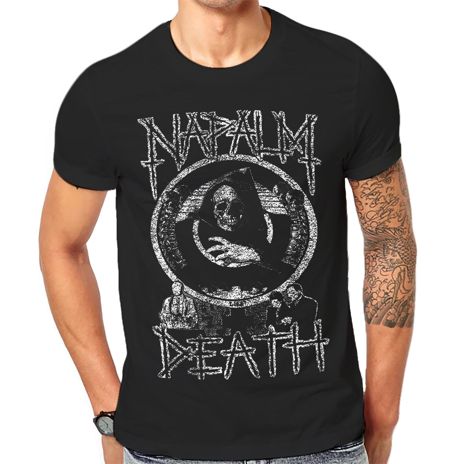 b9a0c9eb Napalm Death T Shirt Cool Black Graphic Print Mens Heavy Rock Band Tees 1 A  173 Mens T Shirts Summer O Neck Cotton-in T-Shirts from Men's Clothing on  ...