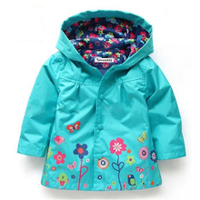 Autumn Winter Baby Girls Jacket Windbreaker Kids Raincoat Trench Coat Children Outerwear Clothes for 2 3 4 5 6 Years