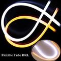 Горячие продажи Авто Гибкая Трубка DRL фары 3014 LED дневного света 0.4A автомобиль дневное время с сигналом поворота огни