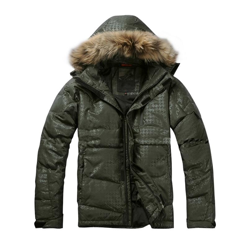 30 Degree AFS JEEP winter parka men veste homme hiver thicken thermal fleece men jacket