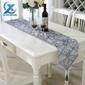 28x210cm Luxury Stereoscopic Flower Embroidered Table Runner Cloth Grid Style Wedding Table Runner Home Decoration Fast Shipping