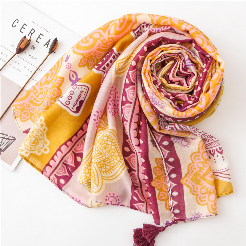 women's summer THAILAND STYLE long luxury brand elephant pattern hijab   scarf     wraps   shawl travel pashmina