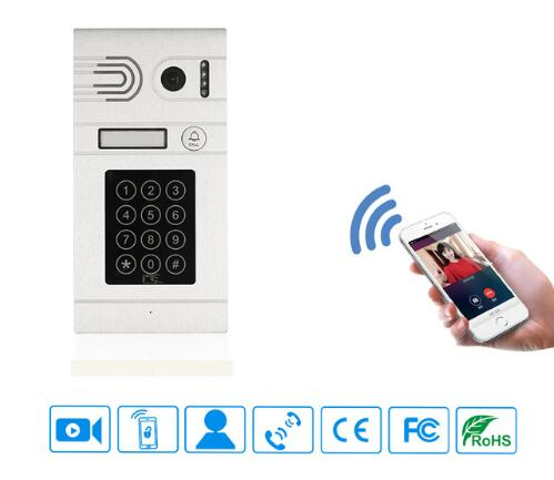 Android IOS APP Remote View and Unlock Control WIFI Wireless IP Doorbell Home Access Security System, Free Shipping 2016 new tkstar bar mini personal trackerreal time tracking support android and ios platform free web application free shipping