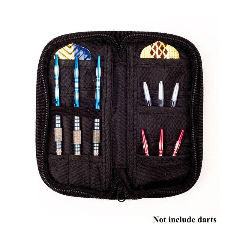 1 Set Carry Case Wallet Pockets Holder Storing Bag Black Durable   Darts Accessories