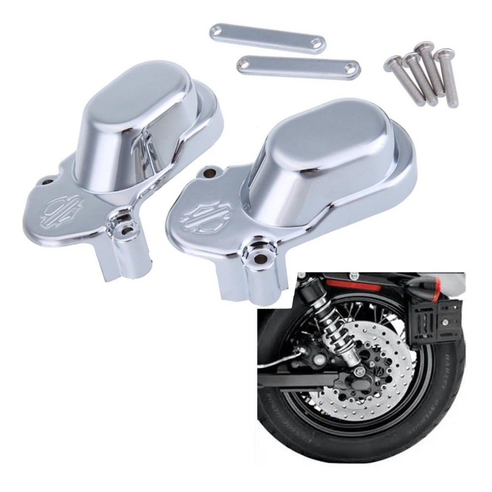 Motorcycle Sliver Rear Axle Cover Cap Set For Harley Davidson Sportster XL 1200 883 2005 - 2014 06 07 08 09 10 11 12 13 abs rear chrome axle cap cover kit motorcycle decorative accessories for harley davidson sportster xl883 1200n 2005 2014 7395
