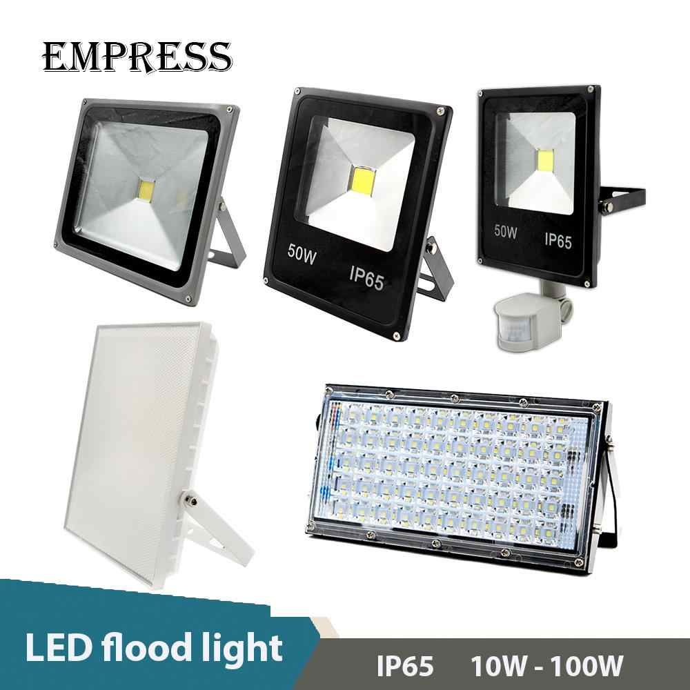 LED Floodlight Real Power 220V SMD 10W 20W 30W 50W 100W Waterproof IP65 Warm Cold White Spotlight Garden Wall Outdoor Lighting