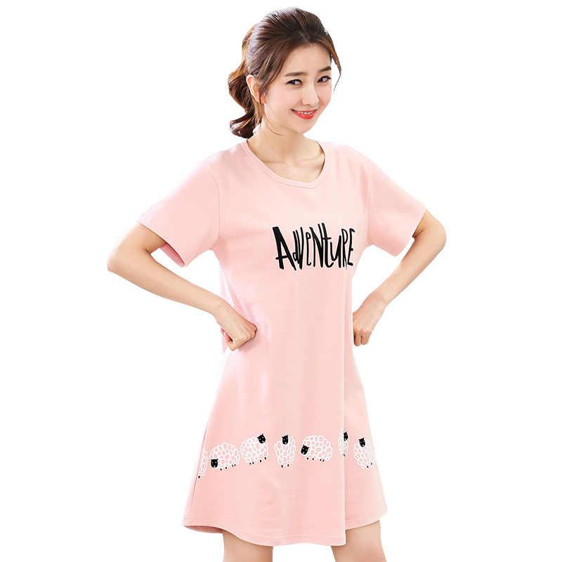 ... about 35%100 % Cotton Nightgown Women Sweet Girl Lounge Cute Nightdress  Sleepwear Summer Home Dress Casual Nightwear Sleepshirts Shirt on  Aliexpress.com ... 0ddae3183