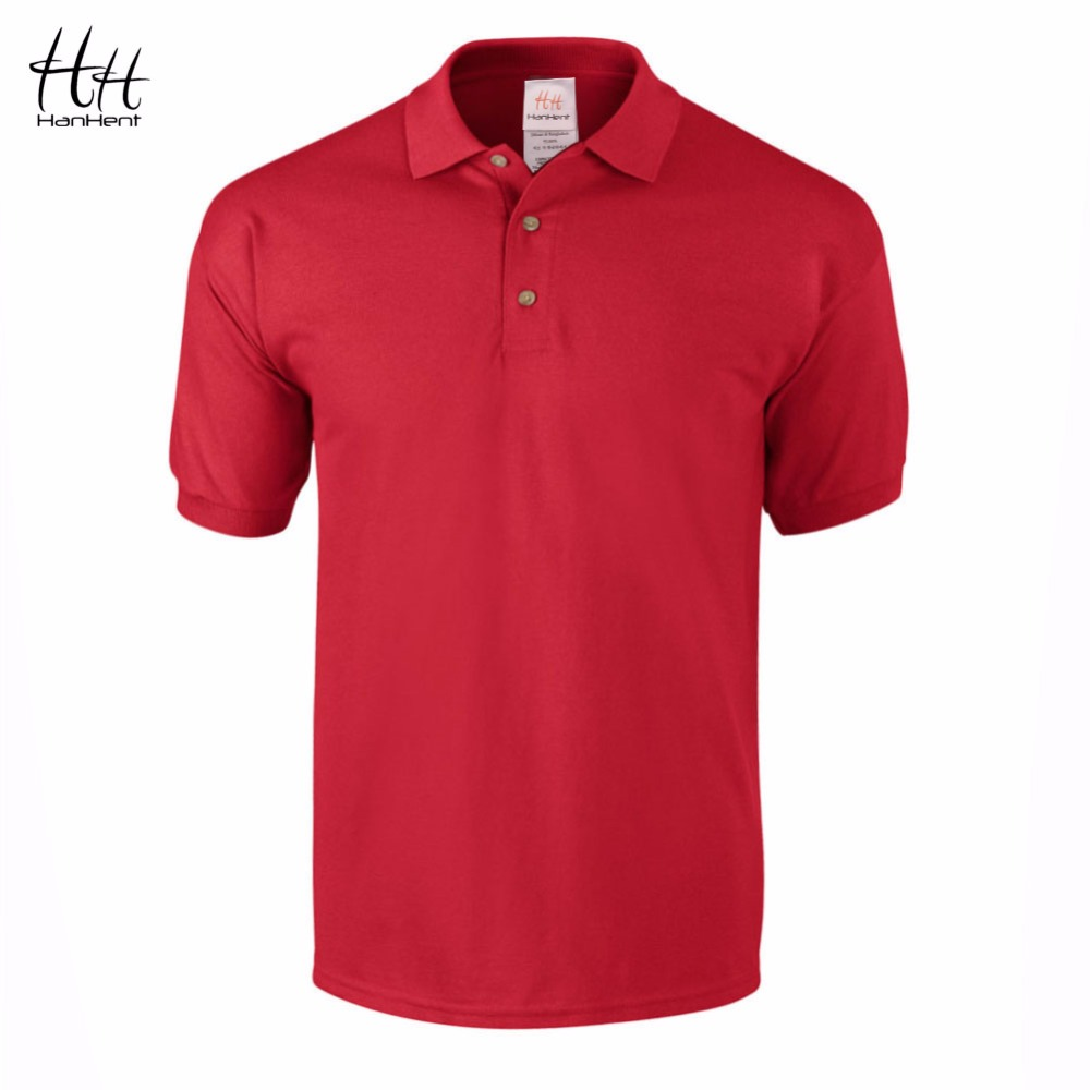 Hanhent business office polo shirt 2016 new brand men for Mens branded polo shirts