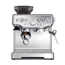 Espresso Coffee Machine Semi-automatic 15 Bar Pressure Grinder Steam Integrated Maker Cafetera BES870