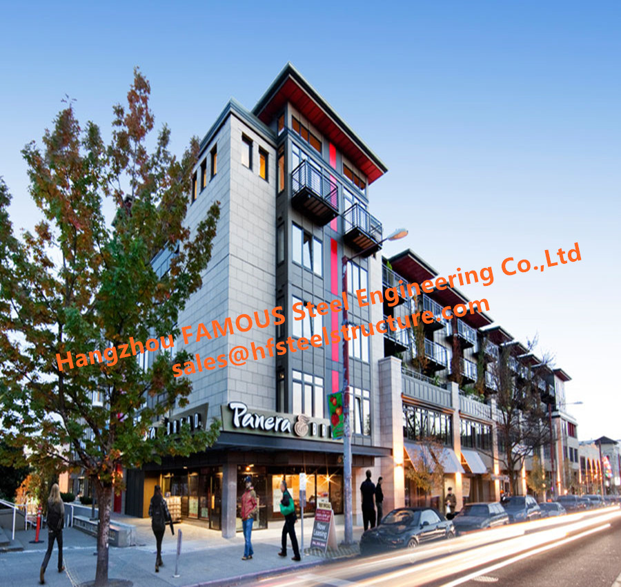 Exterior Glass Curtain Wall Commercial And Residential Integration Building  For Office & Apartment Unit