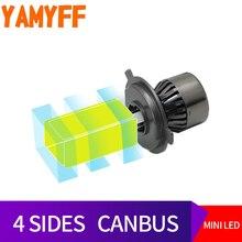 YAMYFF H4 LED Canbus D2S Auto Lampadine Del Faro HA CONDOTTO LA Luce Auto D1S D3S D4S Lampada 6000 K 8000LM 4 Lato auto Nebbia Luci di Automobili 12 V