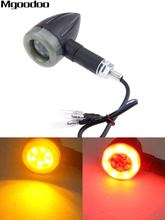Mgoodoo 2Pcs/4Pcs Motorcycle Flasher Turn Signal Indicators light Brake Rear Running Lamp 12V Amber Red Light