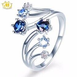 Женское кольцо с натуральным голубым лондонским топазом