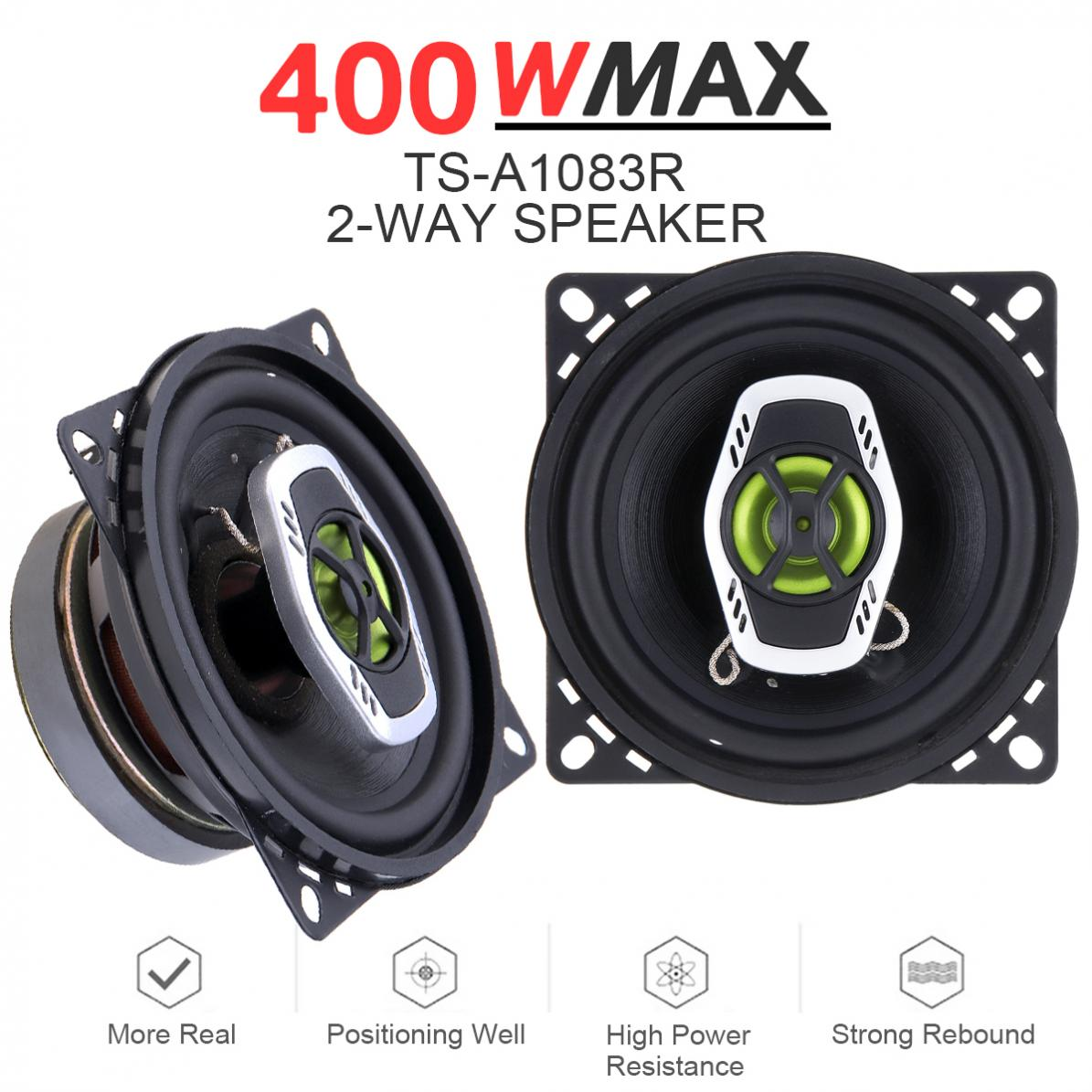 1Pair 4 Inch 10cm 400W 2 Way Car Coaxial Auto Audio Music St