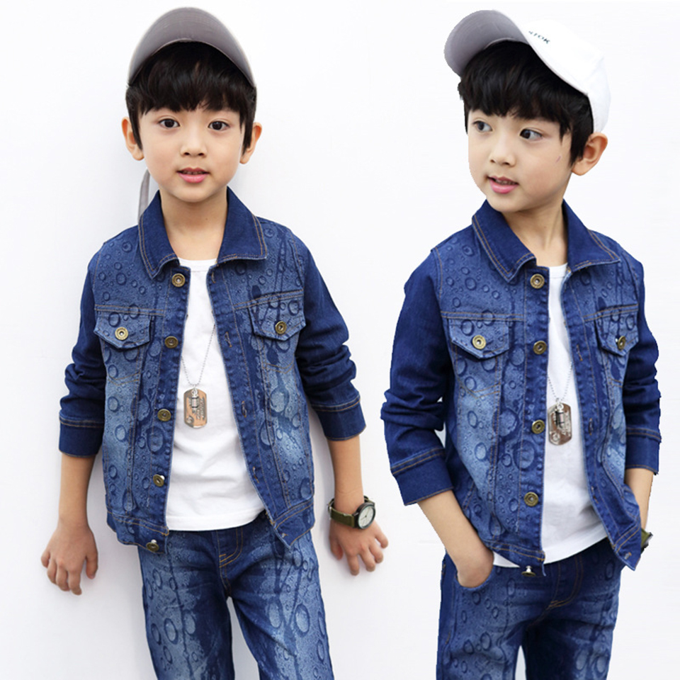 Boys Clothes 4 6 8 10 12 13 Year Old Baby Boy Clothing Set Cool Suits Fashion Denim Jackets And Pants 2 Pcs Boys Tracksuit Sets