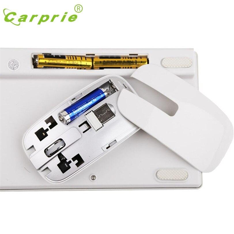 Carprie Gaming Keyboard И Мышь комбинированный набор Белый Беспроводной 2.4 ГГц Мощность экономии mar6 motherlander